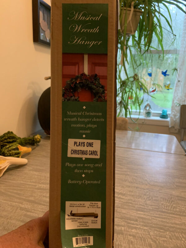 Musical Wreath Hanger Motion Activated Christmas