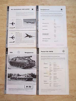+++Erkennungsblätter vom Führungsstab der Verteidigung 1963 - 4 Stück+++