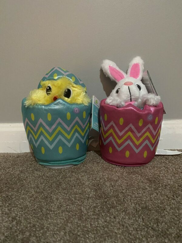 Gemmy Easter Rising Chick And Bunny
