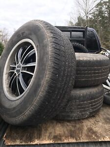 265 70 17 Rims with Tires M+S