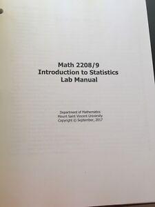 MSVU Statistics 1 Lab Manual