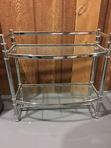 Pretty glass bathroom shelf