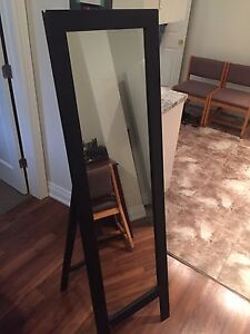 Black stand up mirror