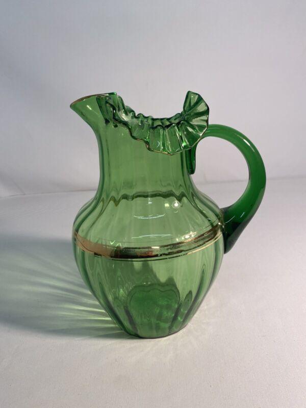 Green Victorian Pitcher