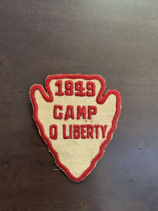 Boy Scout Camp O Liberty 1949 patch