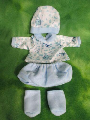 "17"" BLUE CLOTHING SET FOR REBORN BABY BERENGUER IDEAL MATTEL DOLLS * LOVEWRAPS"