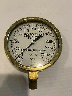 Vintage Brass Water Pressure Guage Blaw Knox Pittsburgh Marsh Instrument Co Nib.