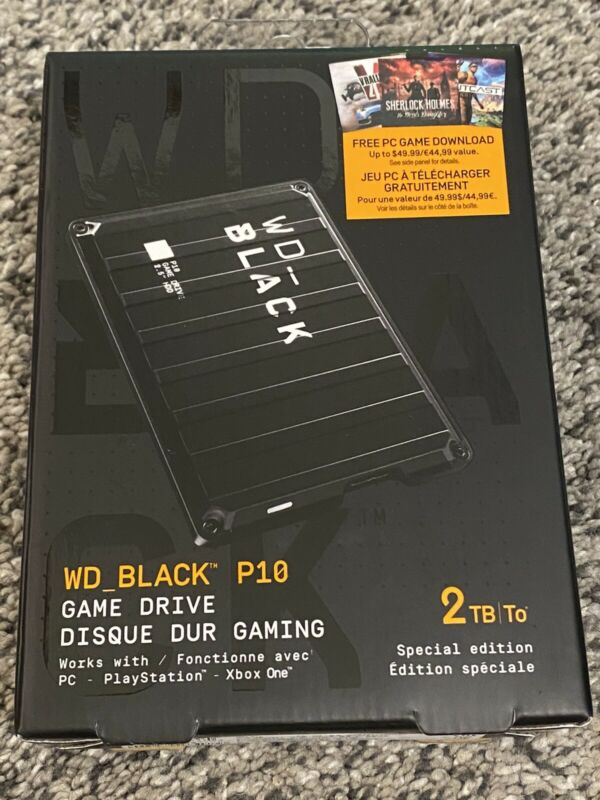 SEALED - WD Black P10 2TB Game Drive - Special Edition - WDBAUV0020BBK-WEBN