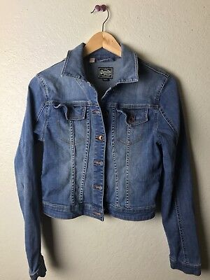 superdry Ladies Denim Jacket Xs