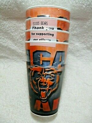 NEW In Package CHICAGO BEARS NFL Licensed 16oz Holographic 3D Spirit Cups 4 Pack](Chicago Bears Cup)