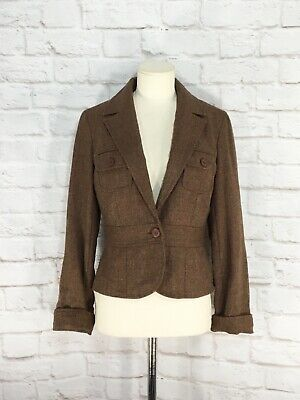 Barami Women's Blazer Brown Tweed Vintage Size 4