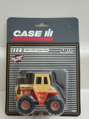 Case 1470 Traction King Tractor in Striped Package 1/64 Scale NIP BY Ertl