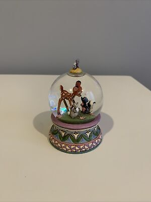 Walt Disney Showcase Collection Snow globe snowglobe Bambi Thumper #4015347