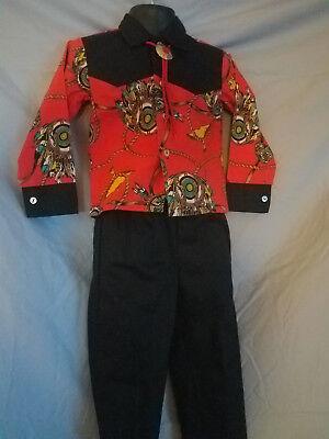 LK38 - 4 piece black/red toddler boys inc: pants w/ belt & dress shirt w/ - Toddler Boy Red Dress Shirt