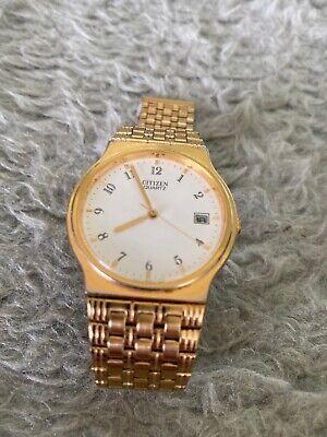 Mens Vintage Citizen Quartz - 6110-S12991 SMG - Bracelet Calendar Watch