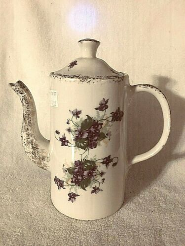 Hampton China Victorian Violets Pattern Coffee Pot