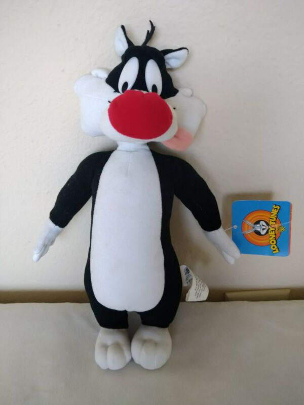 "Vintage Looney Tunes SYLVESTER the Cat Plush Stuffed Animal 13"" 2001"