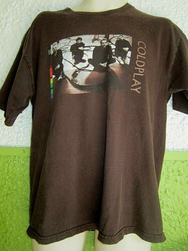 Coldplay 2005 Twisted Logic Brown Large Concert tour Shirt