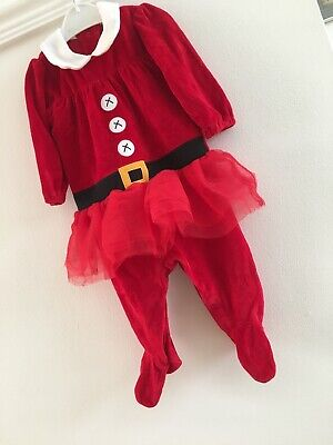 Next Baby Girls Red Santa Mrs Claus Dress Up Age 3-6 Months Christmas Outfit Set - Baby Mrs Santa Outfit