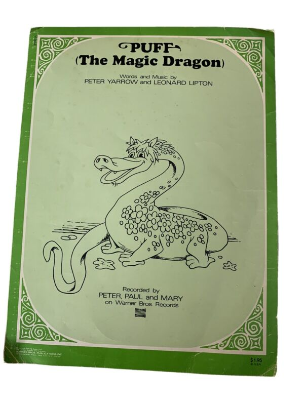Sheet Music Puff The Magic Dragon Recorded By Peter Paul And Mary