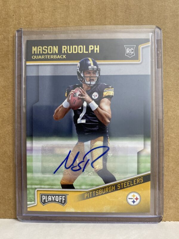 2018 Panini Select Rookie Selections #21 Mason Rudolph Pittsburgh Steelers Football Card