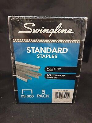 Swingline Standard Staples 14 Length 5000 Per Box Pack Of 5