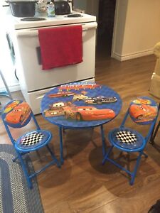 Cars table and chairs set