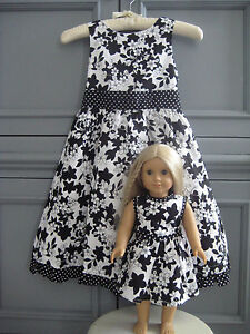 POLLY AND FRIENDS Girls Sz 6X Dress  Matching Doll Dress Fits American Girl NEW
