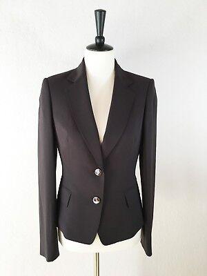 ANNE KLEIN Jacket Womens Sz 6 S Fitted Career Blazer Two-Button Purple Plum EUC