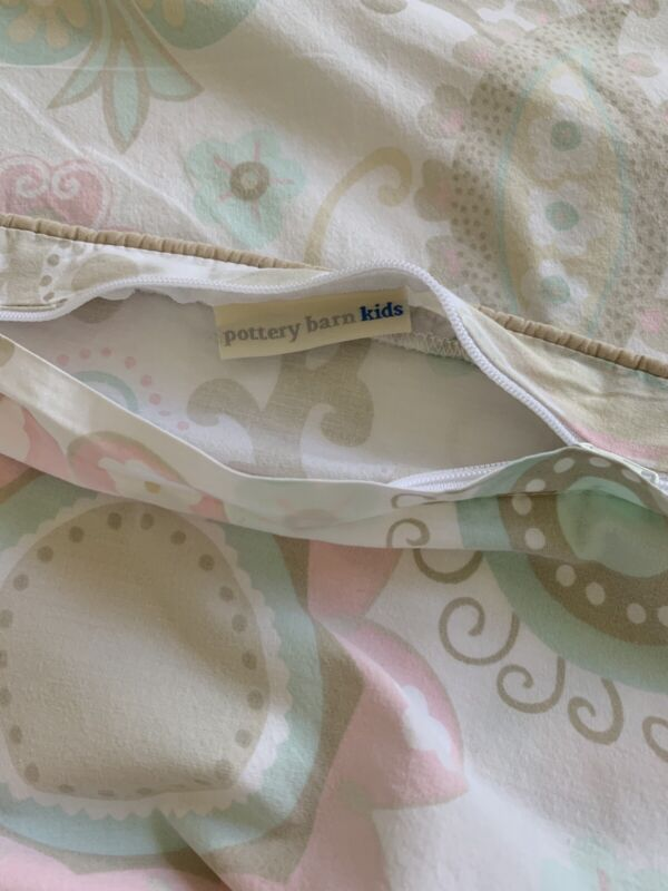Pottery Barn Kids Toddler Size Organic Cotton Printed Duvet Cover