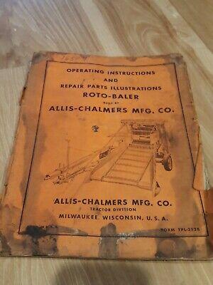 Allis Chalmers Roto Baler Owner Operator Parts Manual Original
