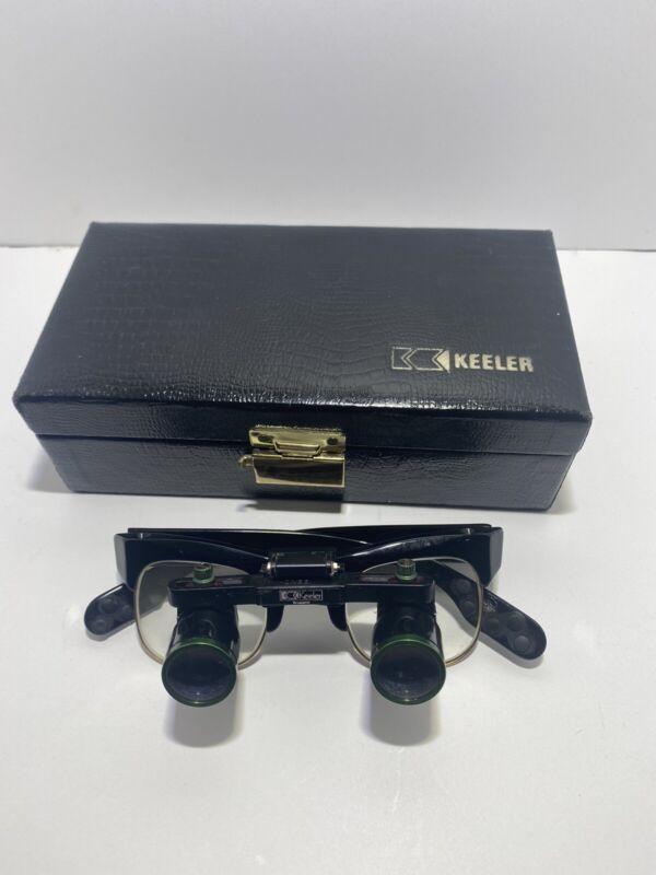 Vintage Keeler Dental/Medical Loupe Glasses W/Case Made In England