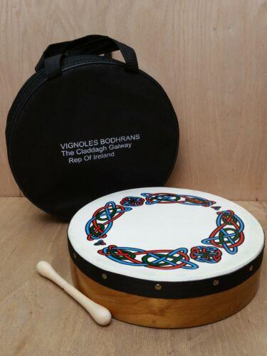"Michael Vignoles 12"" Irish Bodhran Drum with Beater & Bag"