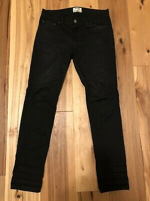 acne studios denim stay cash black jeans 32/32