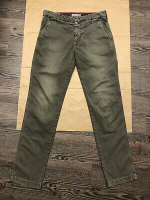 JACOB COHEN Academy Olive Green Luxury Chino Trousers Pants 33x33 W33 L33