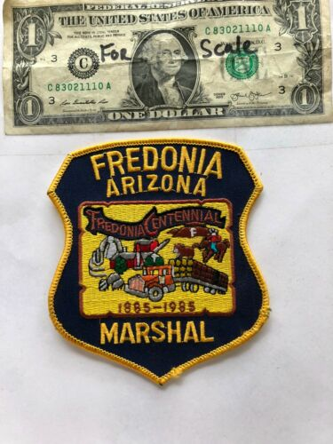 Fredonia Arizona Police Marshal Patch un-sewn great condition