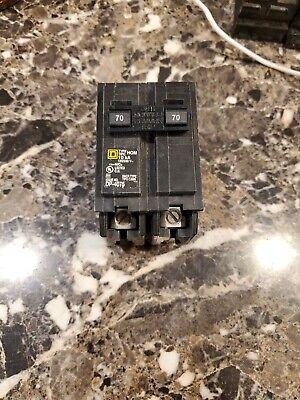 Square D Homeline 70a Double-pole Standard Trip Circuit Breaker Hom270cp - 1