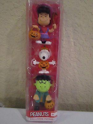 PEANUTS HALLOWEEN FIGURES CHARLIE BROWN SNOOPY LUCY NIP - Peanuts Halloween Figures