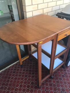Kitchen island trolley/table