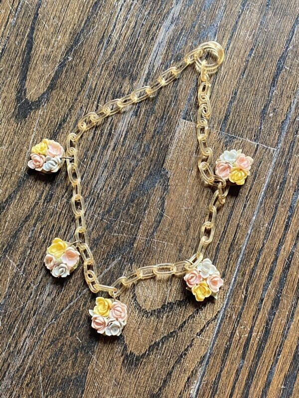 celluloid necklace Flower