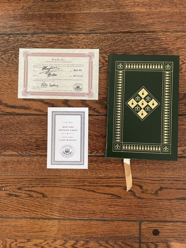 How Life Imitates Chess by Garry Kasparov, Easton Press, signed first edition