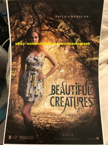 ZOEY DEUTCH BEAUTIFUL CREATURES EMILY ASHER MOVIE POSTER SIGNED 12x18 REPRINT RP