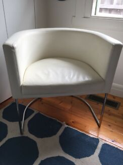 White Leather Chair for Quick Sale