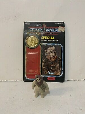 VINTAGE STAR WARS WAROK EWOK LAST 17 With Card Bubble And Coin
