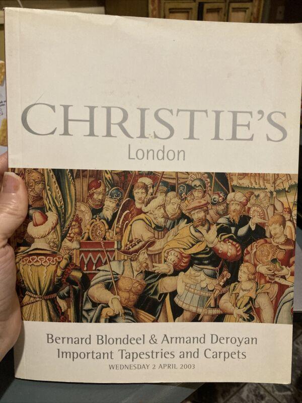 Catalog London Blondeel & Deroyan Christies- Oriental Rugs Carpets Tapestries