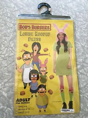 2017 Bob's Burgers Louise Belcher Costume Dress Size Small 4/6 Official Cosplay - Bob Belcher Costume
