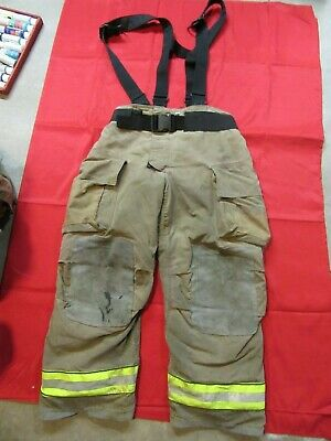 Mfg. 2013 Globe Gxtreme 38 X 30 Firefighter Turnout Bunker Pants Suspenders