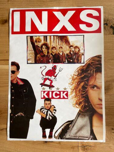 "INXS - Kick - VINTAGE 1980s Large UK POSTER 34"" x 24"" Rock MICHAEL HUTCHENCE NM"