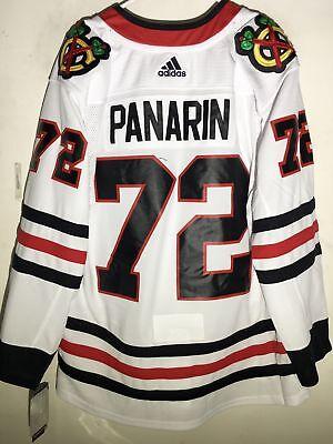 5985be307 adidas Authentic NHL ADIZERO JERSEY Chicago Blackhawks Artemi Panarin Wht sz  52