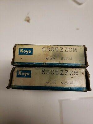 Lot Of 2 New Koyo 6305zzcm Bearings